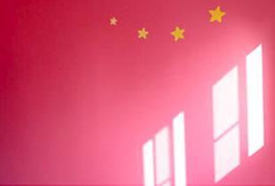自分のお部屋は大好きな色で